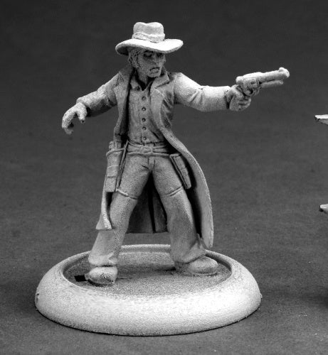 Reaper Miniatures Gunslinger #59007 Savage Worlds Unpainted RPG D&D Mini Figure