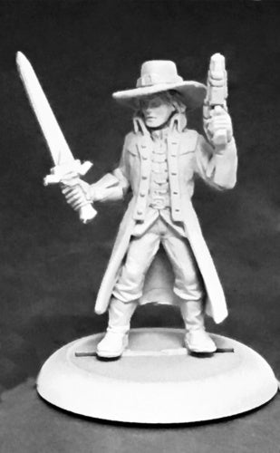Reaper Miniatures Witch Hunter (male) #59043 Savage Worlds Unpainted Mini Figure