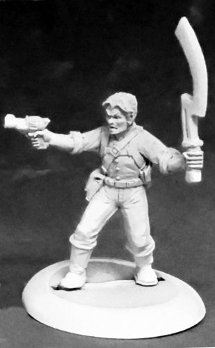 Reaper Miniatures Frazer's Fighters (male) #59047 Savage Worlds Unpainted Figure