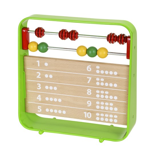 BRIO Abacus with Clock Fun Wooden Time and Counting Learning Toy