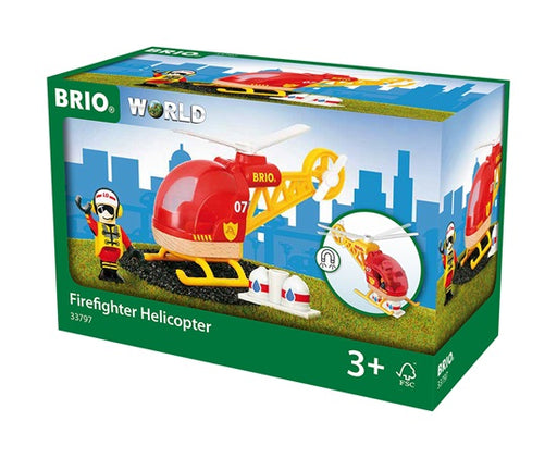 BRIO 3 Piece Firefighter Helicopter