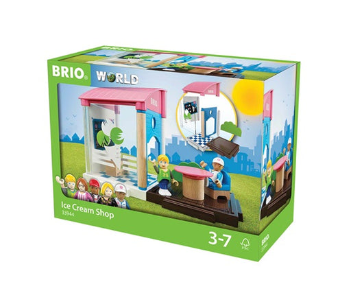 BRIO 13 Piece Ice Cream Shop Building with People and Accessories