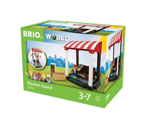 BRIO 11 Piece Market Stand Building Accessory
