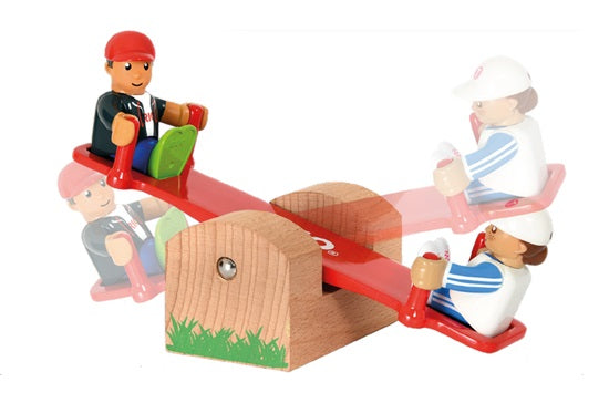 BRIO 4 Piece Playground Set with Swing SeeSaw and People