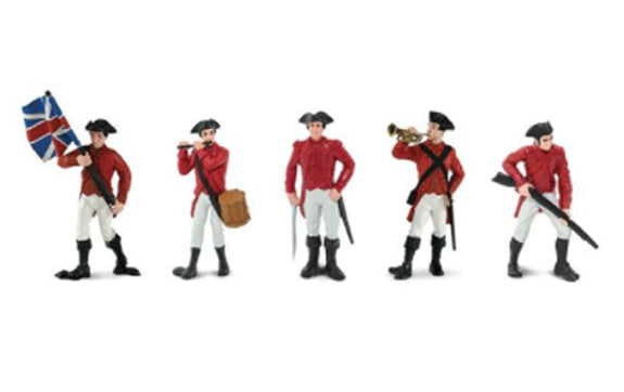 Safari Designer TOOBS 5 Painted Figures-American Revolutionary War British Army
