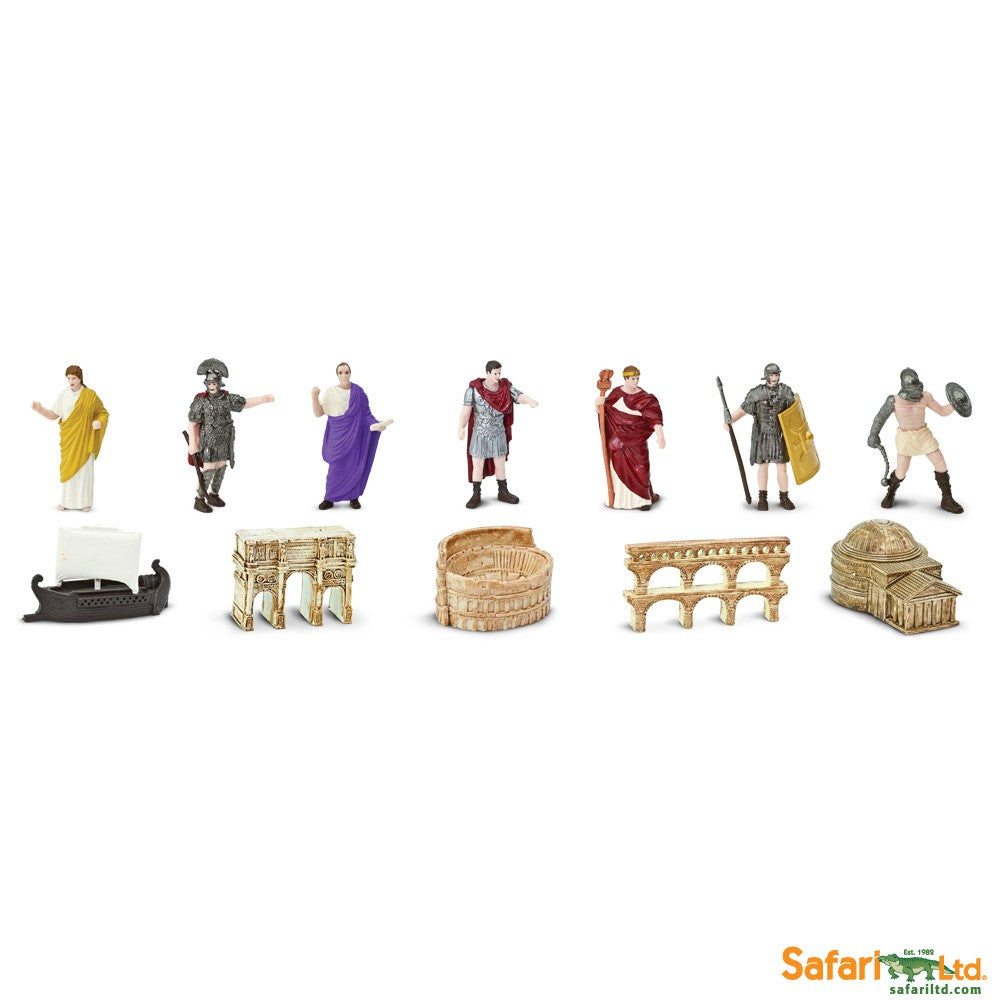 Safari Ltd Super TOOBS Painted Miniature Figure, 12 Pieces - Ancient Rome