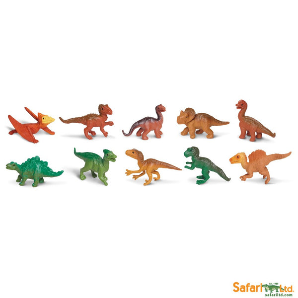 Safari Ltd TOOBS Painted Miniature Figure, 10 Pieces - Dino Babies