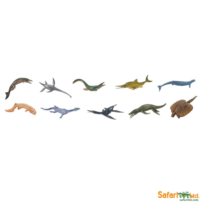 Safari Ltd Prehistoric Sealife TOOB 10 Piece Painted Miniature Figure Set