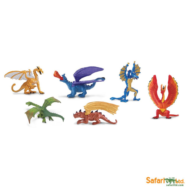 Safari Designer TOOBS Painted Mini Figure, 6 Pc-Lair of the Dragons Collection 1