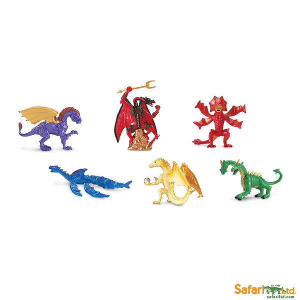 Safari Designer TOOBS Painted Mini Figure, 6 Pc-Lair of the Dragons Collection 2