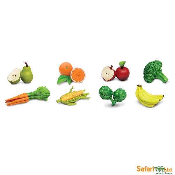 Safari Ltd TOOBS Painted Miniature Figure, 8 Pieces - Fruits & Vegetables