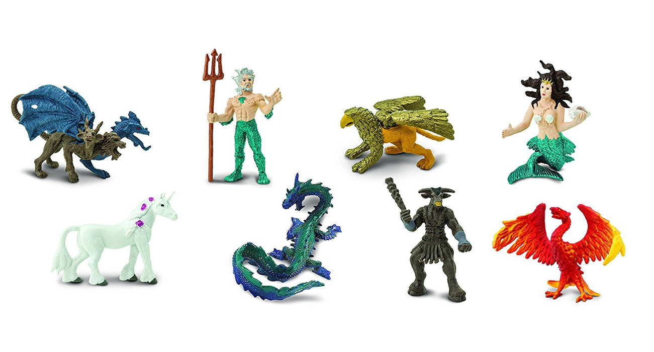 Safari Ltd TOOBS Painted Miniature Figure, 8 Pieces - Mythical-Realms