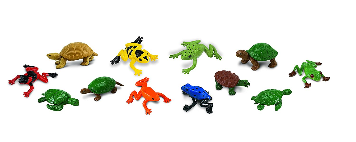 Safari Ltd Frogs and Turtles TOOB 12 Piece Miniature Replica Figures Set