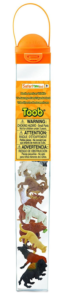 Safari Ltd North American Wildlife TOOB 12 Piece Miniature Plastic Figures