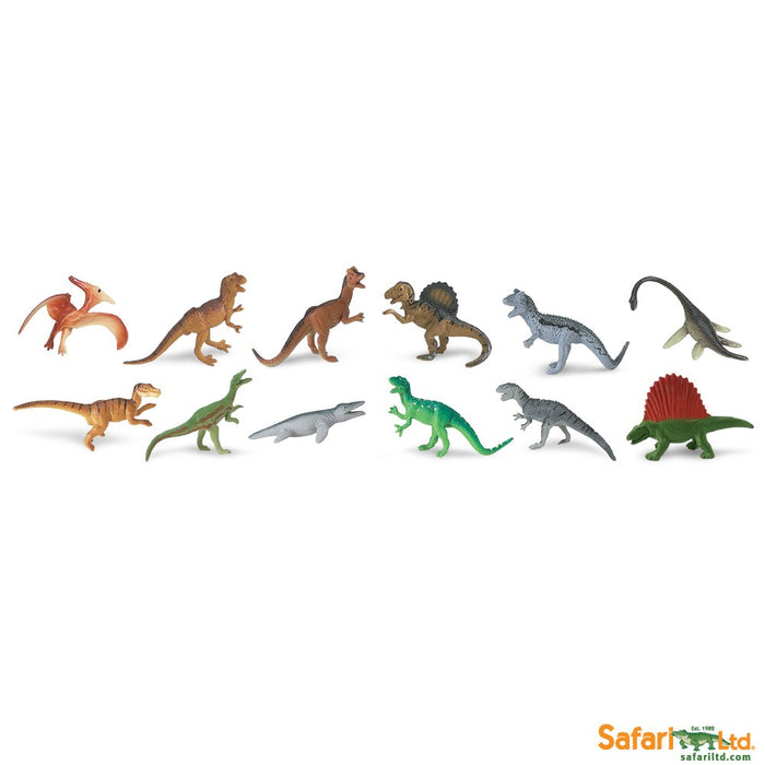 Safari Ltd TOOBS Painted Miniature Figure, 12 Pieces - Carnivorous Dinos