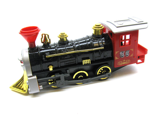 Red Pull Back Plastic and Die-Cast Vintage Train Toysmith #7042