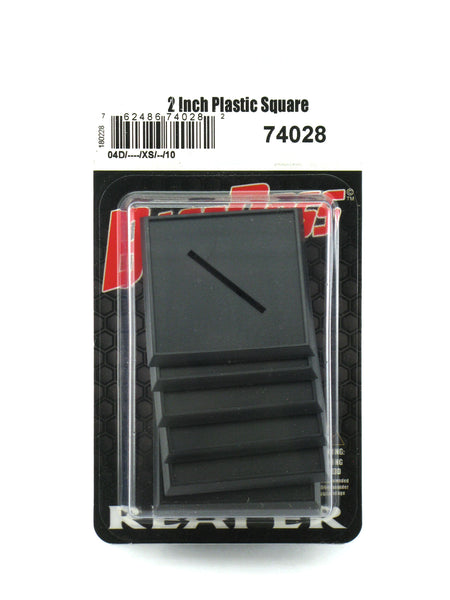 Reaper Miniatures 2 Inch Square Plastic Gaming Base (10) RPG Accessory #74028