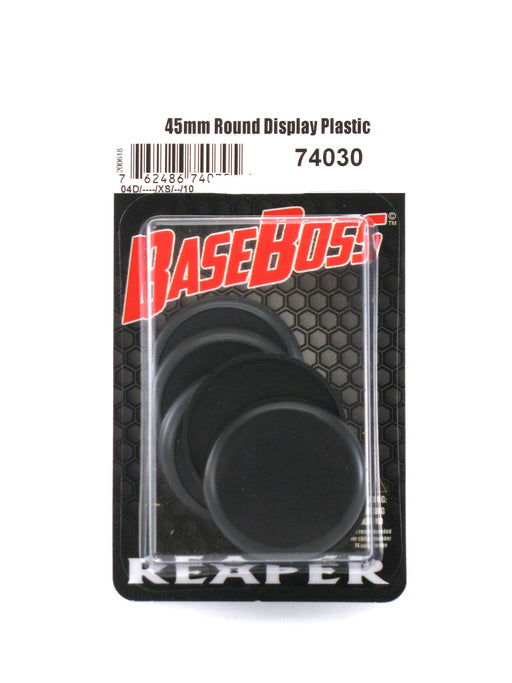 Reaper Miniatures 45mm Round Plastic Display Base (10 Pieces) #74030 Accessory
