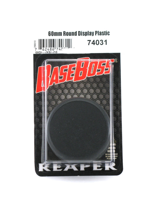 Reaper Miniatures 60mm Round Plastic Display Base (10) RPG Accessory #74031
