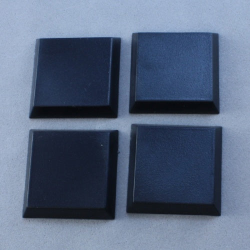"Reaper Miniatures 1"" Square Plastic Flat Top Base (20 Pieces) #74038 Accessory"