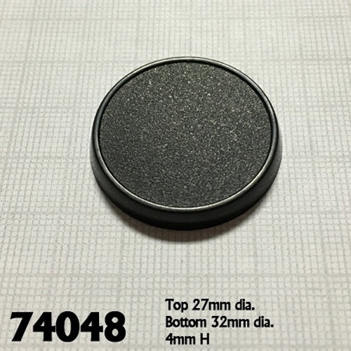 Reaper Miniatures 32mm Round Gaming Base (10) #74048 Accessory