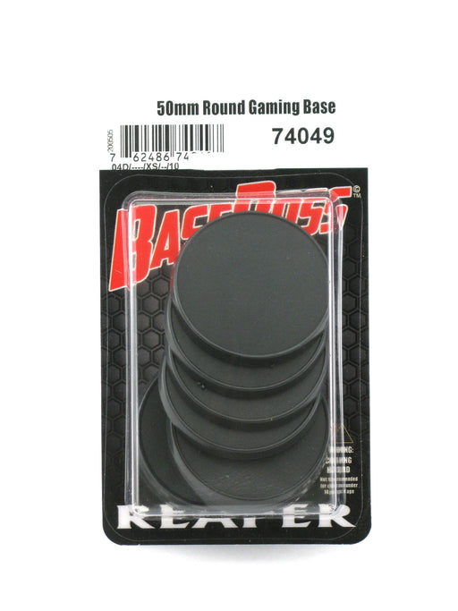 Reaper Miniatures 50mm Round Gaming Base (10) #74049 Accessory