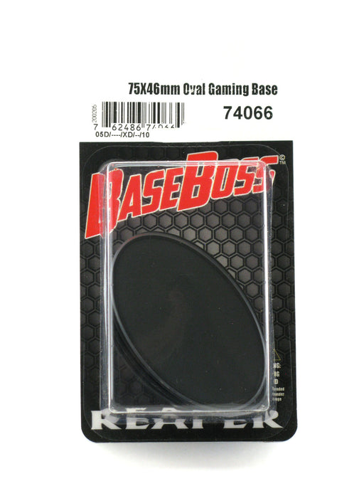 Reaper Miniatures 75mm x 46mm Oval Gaming Base (10) #74066 Accessory