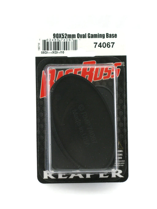 Reaper Miniatures 90mm x 52mm Oval Gaming Base (10) #74067 Accessory