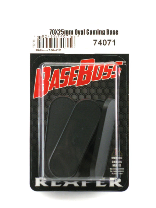 Reaper Miniatures 70mm x 25mm Oval Gaming Base (10) #74071 Accessory