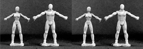 Reaper Miniatures Non-Heroic Dollies (4) #75008 Sculpting Accessories Figure