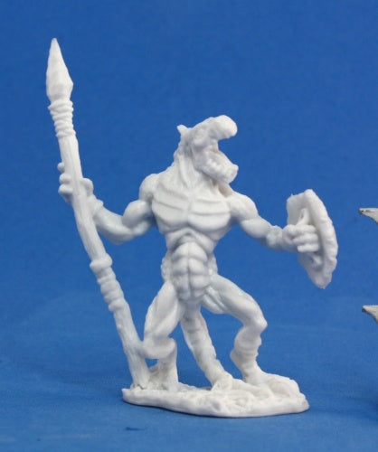 Reaper Miniatures Lizardman Warrior #77050 Bones Unpainted Plastic Mini Figure