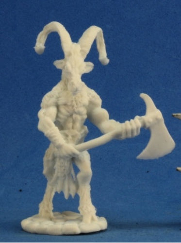 Reaper Miniatures Beastman Warrior 2 #77253 Bones Unpainted Plastic Mini Figure
