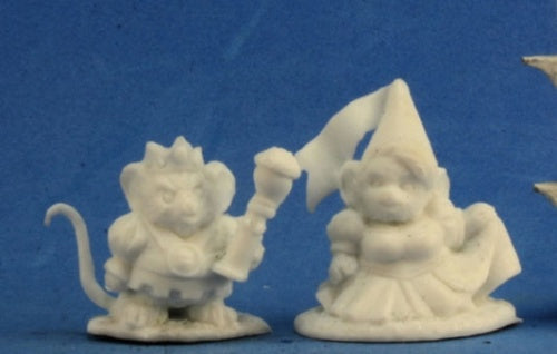 Reaper Miniatures Mousling King and Princess #77286 Bones Unpainted Figure