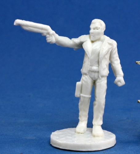 Reaper Miniatures Rex, Dark Future Hero #80009 Bones Unpainted RPG D&D Figure