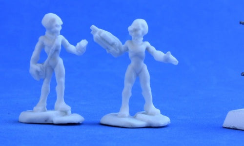 Reaper Miniatures Gray Alien Leaders (2) #80047 Chronoscope Unpainted Plastic