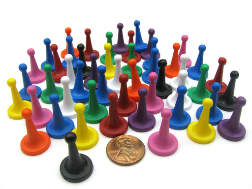 Pack of 50 Plastic Sorry Pawns #804AA (15mm x 23mm) - Assorted Colors