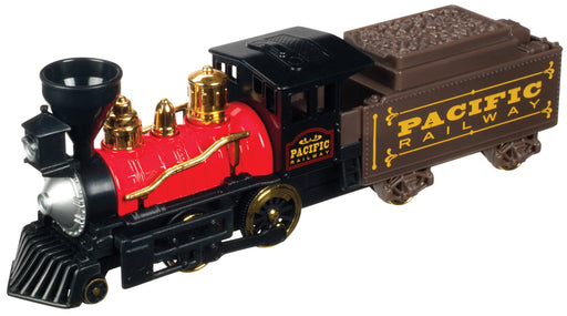 Pull Back Pacific Railway Classic Steam Engine 10 Inch Toysmith #8085