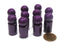 Set of 10 Ball Pawns 30mm Peg Pieces for Board Game Play - Purple