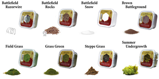 The Army Painter Battlefields Essential: Miniature Diorama Basing Scenery Flock