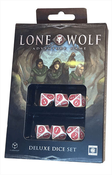 Lone Wolf Adventure Game Deluxe Dice - 6 Piece D10 Dice
