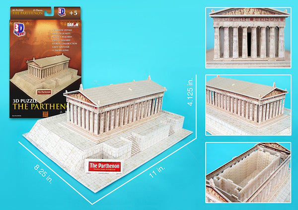 Daron Parthenon 3D 25 Piece Foam Puzzle Landmark Model Kit