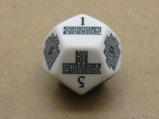 Custom Engraved 28mm D12 RPG D&D Dice - Dungeoneering Dice for Dungeon Building