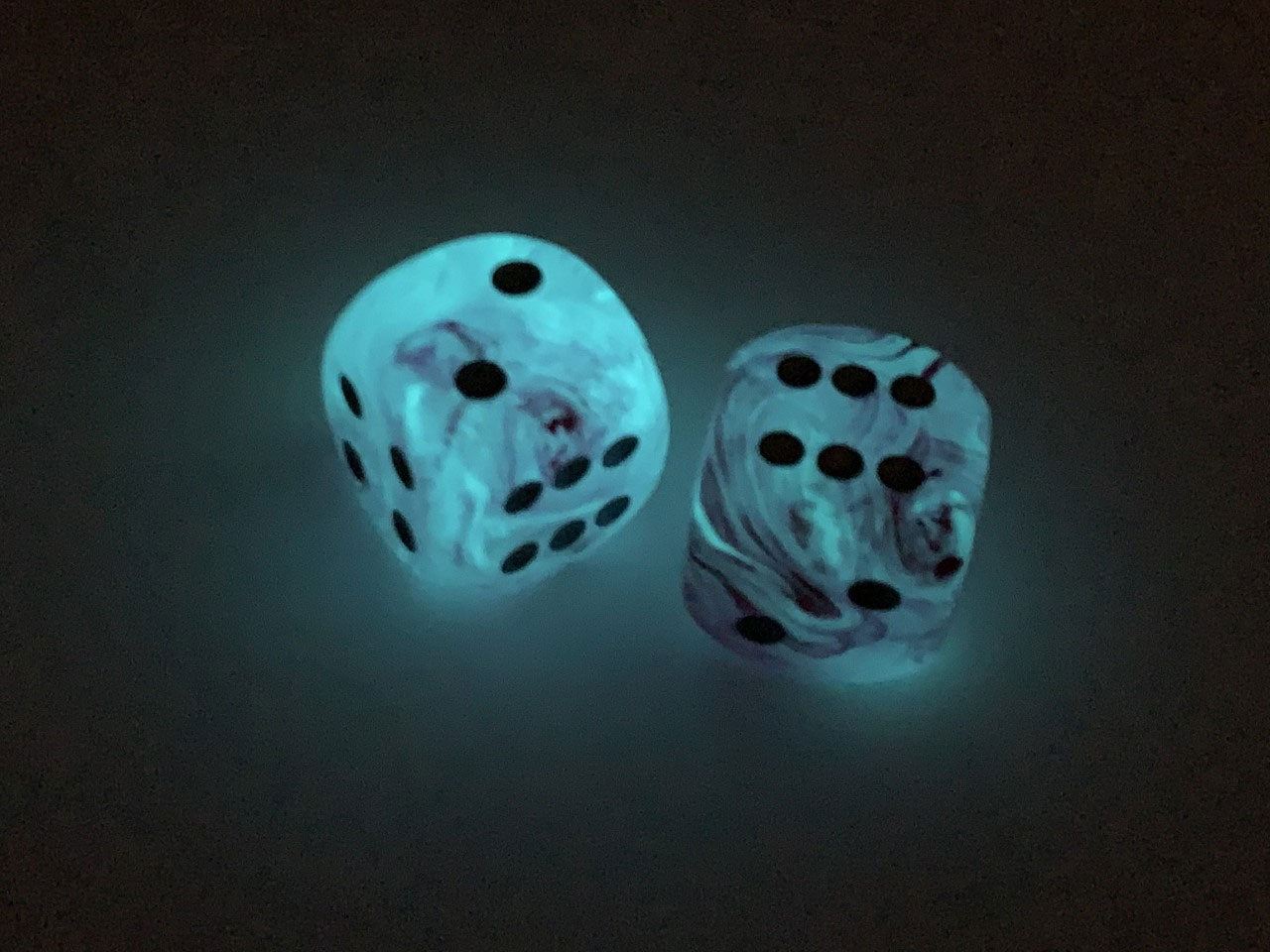 2 Pieces Borealis 30mm Large D6 Chessex Dice Pink with Silver Pips