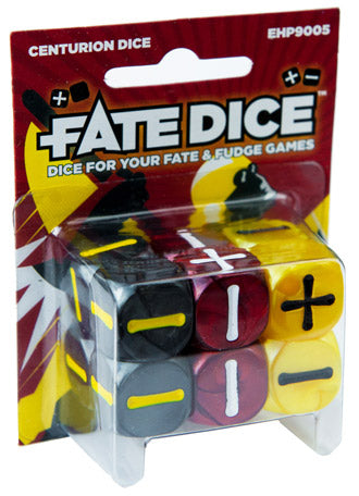 Fate Dice for Fate & Fudge Games - 12 D6 Spirit of the Century Centurion Dice