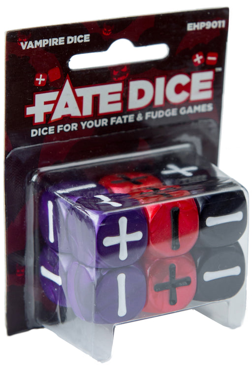 Fate Dice for Fate & Fudge Games by Evil Hat Productions - 12 D6 Vampire Dice