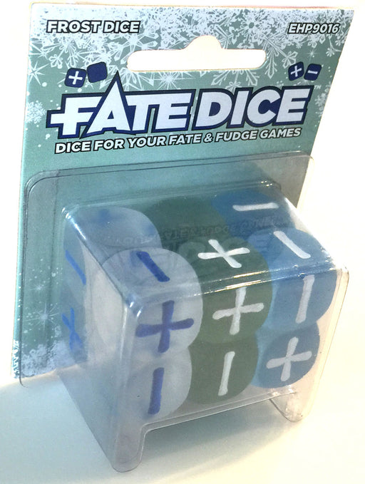 Fate Dice for Fate & Fudge Games Evil Hat Productions - Pack of 12 D6 Frost Dice