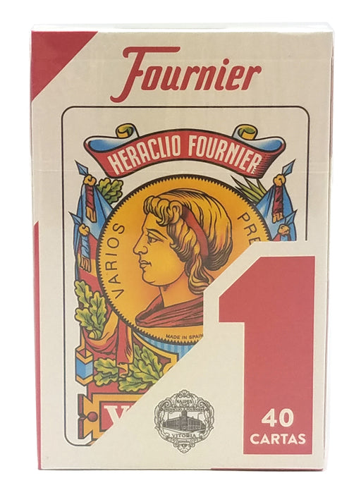 Heraclio Fournier No. 1 Spanish Playing Cards - 1 Red Deck