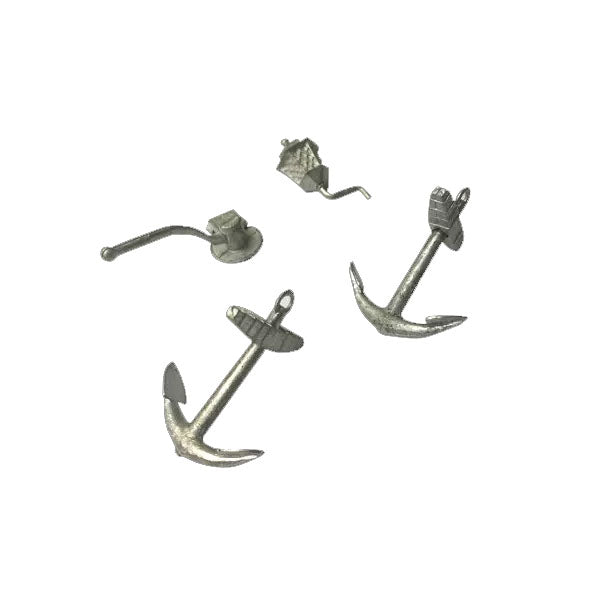 Blood & Plunder Ship Accessories (4 Pieces) Unpainted Metal Models