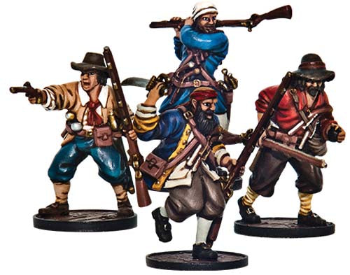 Blood & Plunder: English Forlorn Hope Unit 4p Buccaneer Storming Party Unpainted