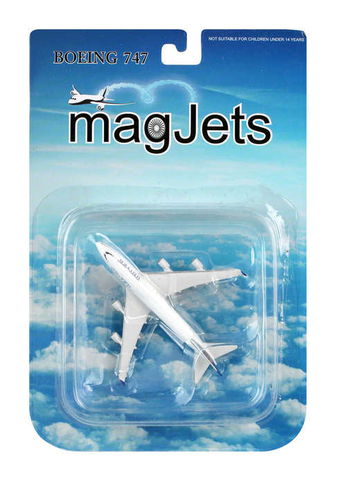 Magjets United Boeing 747-400 1/1000 Die-Cast Magnetic Model Plane